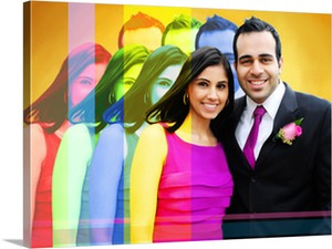 Couple Wearing Pink in Pop Art Photo