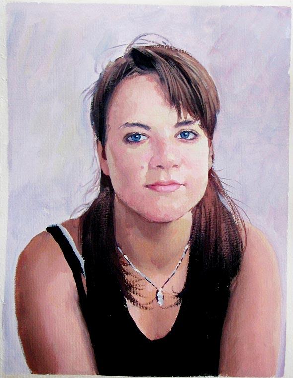 Pastellgemälde von einer Frau