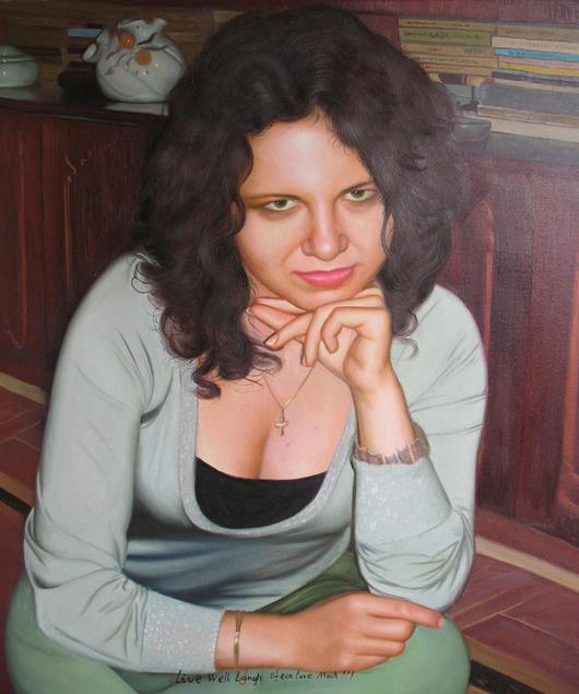 imagen de una mujer como la pintura