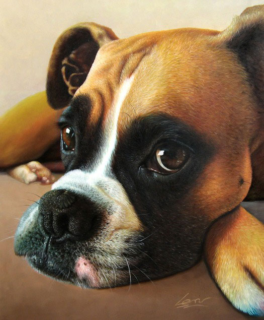 dog portrait in oil - turn your photo to art!