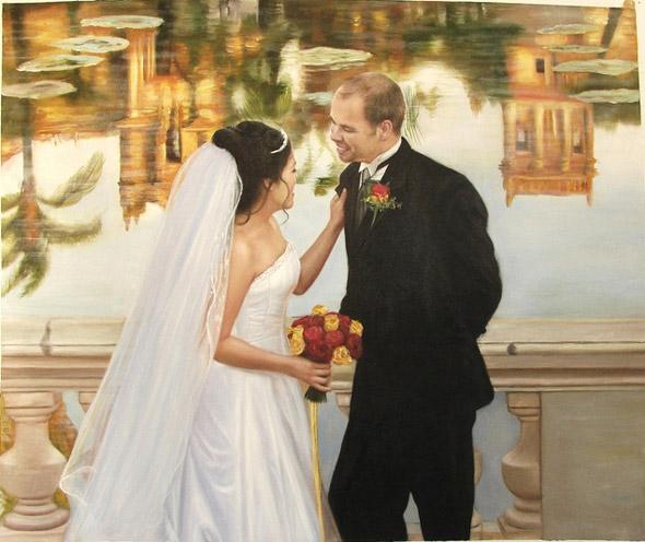 oil wedding painting