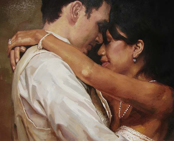 couple portrait in pastel
