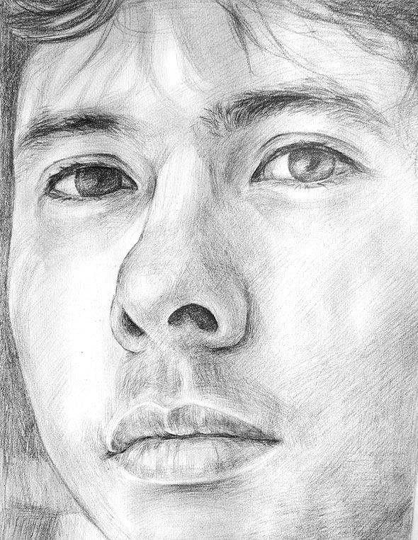 pencil portrait from photo