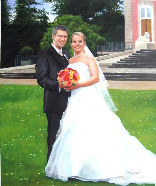 Hochzeitsfoto als Acrylgemälde