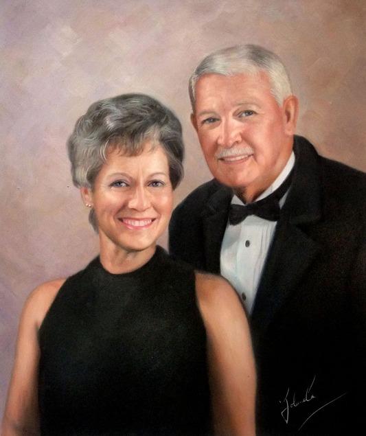 oil portrait of a couple