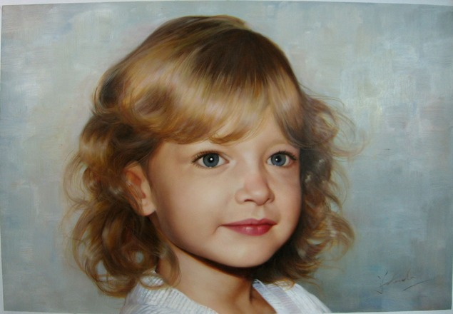 child portrait painting in oil