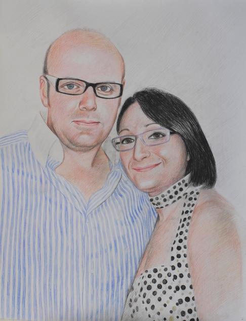 la nostra foto come disegno a matita di colore