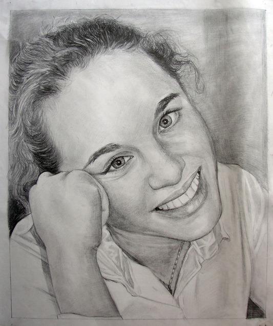 dessin au crayon d'une photo