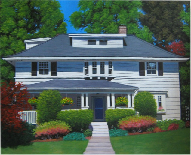 House Paintings acrylic house portraits | house paintings in acrylic