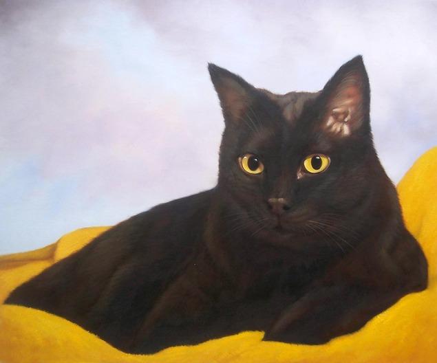 Ritratti di gatti dipinti di gatti disegni di gatti - Olio di ruta repellente gatti ...