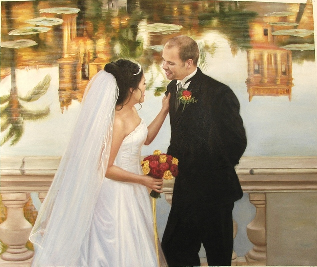 oil wedding painting