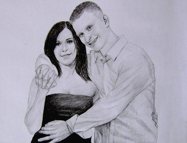coppia come disegno a matita