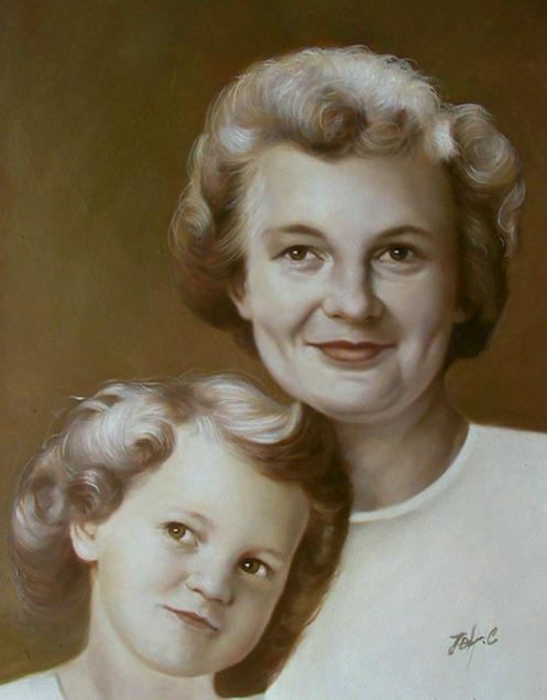 oil portrait vintage style