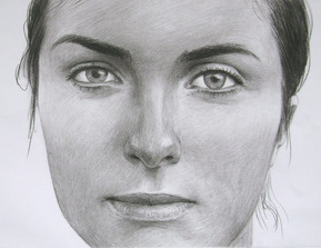 charcoal portrait of a woman face