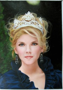 oil portrait of a pageant winner