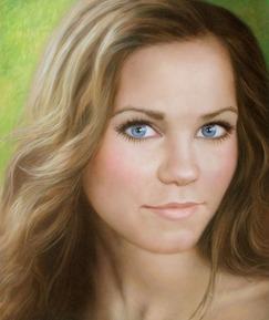 oil portrait of a beautiful woman