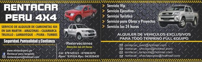RENTACAR PERU 4X4