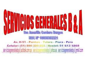 SERVICIOS GENERALES B & A