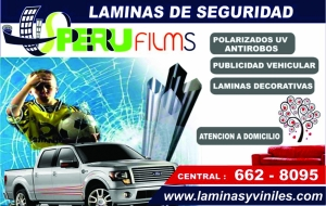 LAMINAS DE SEGURIDAD - POLARIZADOS - PLOTEO VEHICULAR - PAVONADO
