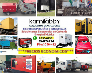 Alquiler de Grupos Electrógenos ***ECONÓMICOS*** KAMILABBY SAC