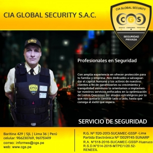 CIA GLOBAL SECURITY S.A.C.