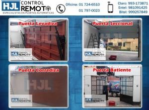 Puertas Levadizas HJL Control Remoto