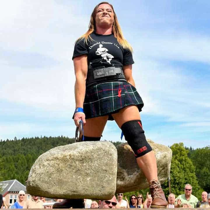"She Rocks! Video of the Second Woman to Ever Lift Scotland's Famous ""Dinnie Stones"""