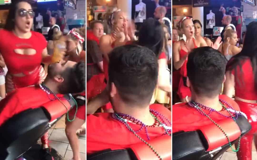Slightly NSFW Video: A Waitress Punches a Random Woman Who Spanked Her Butt