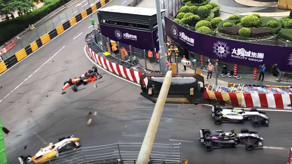 VIDEO: A Race Car Crashes and Goes Airborne at 171 MPH