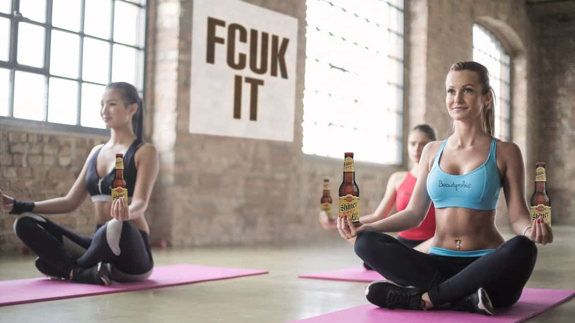 """Rage Yoga"" Is Yoga . . . but with Beer, Yelling, and Cursing"