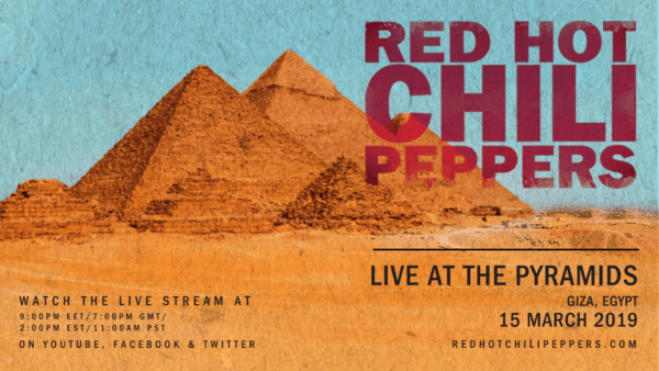 Red Hot Chili Peppers To Live Stream Pyramids Of Giza Concert
