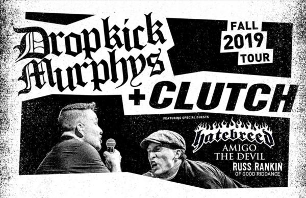Dropkick Murphys, Clutch and Hatebreed Announce U.S. Tour