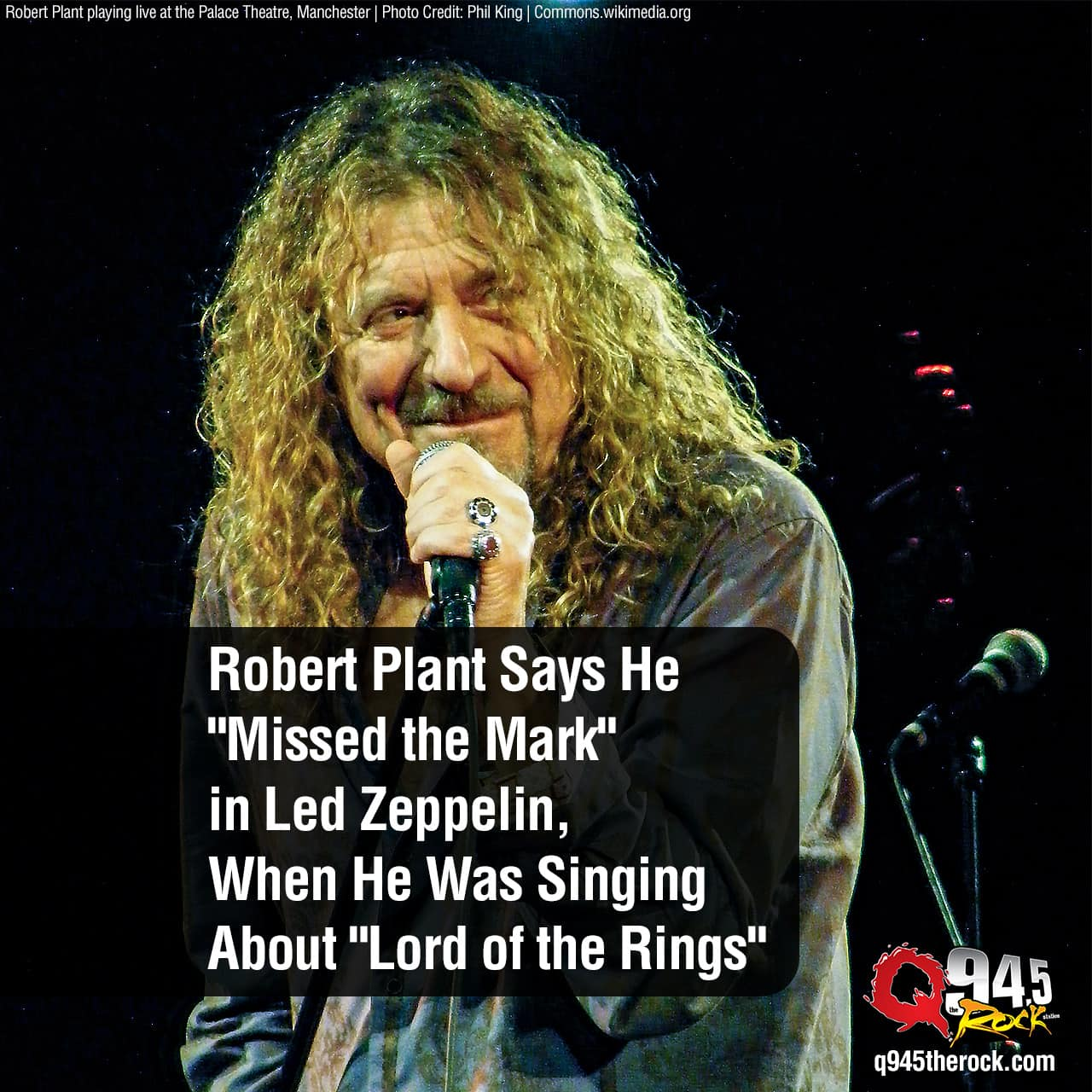 "Robert Plant Says He ""Missed the Mark"" in Led Zeppelin, When He Was Singing About ""Lord of the Rings"""