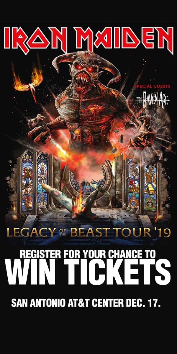 Register for your chance to win tickets to see Iron Maiden Live on Wednesday, September 25th at the AT&T Center in San Antonio!
