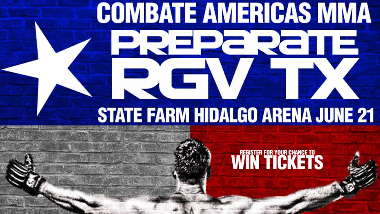 Register for your chance to win tickets to see Combate Americas MMA on Friday, June 21st at the Hidalgo State Farm Arena!