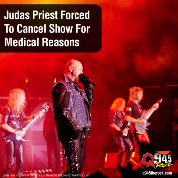 Judas Priest Forced To Cancel Show For Medical Reasons