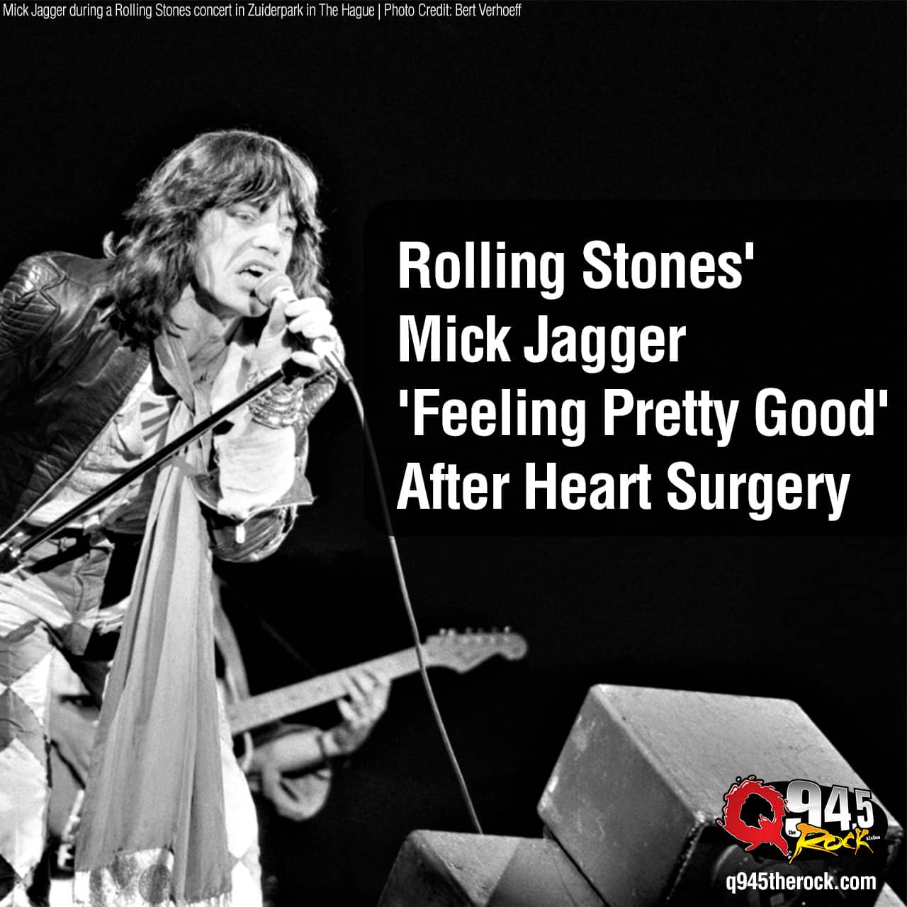 Rolling Stones' Mick Jagger 'Feeling Pretty Good' After Heart Surgery
