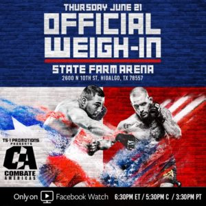 Combate Americas MMA Fighters to weigh-in in Hidalgo Tomorrow 2