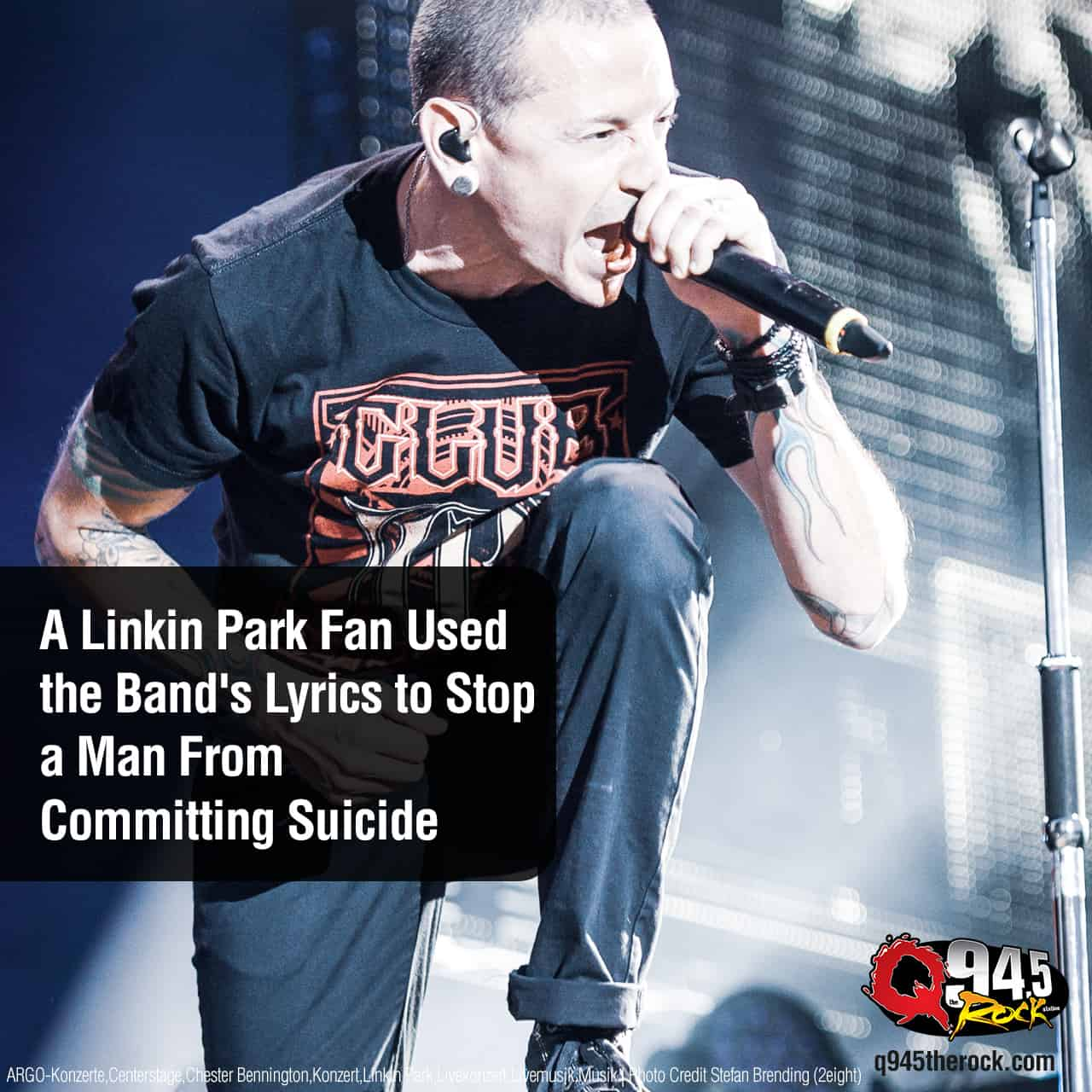 A Linkin Park Fan Used the Band's Lyrics to Stop a Man From Committing Suicide