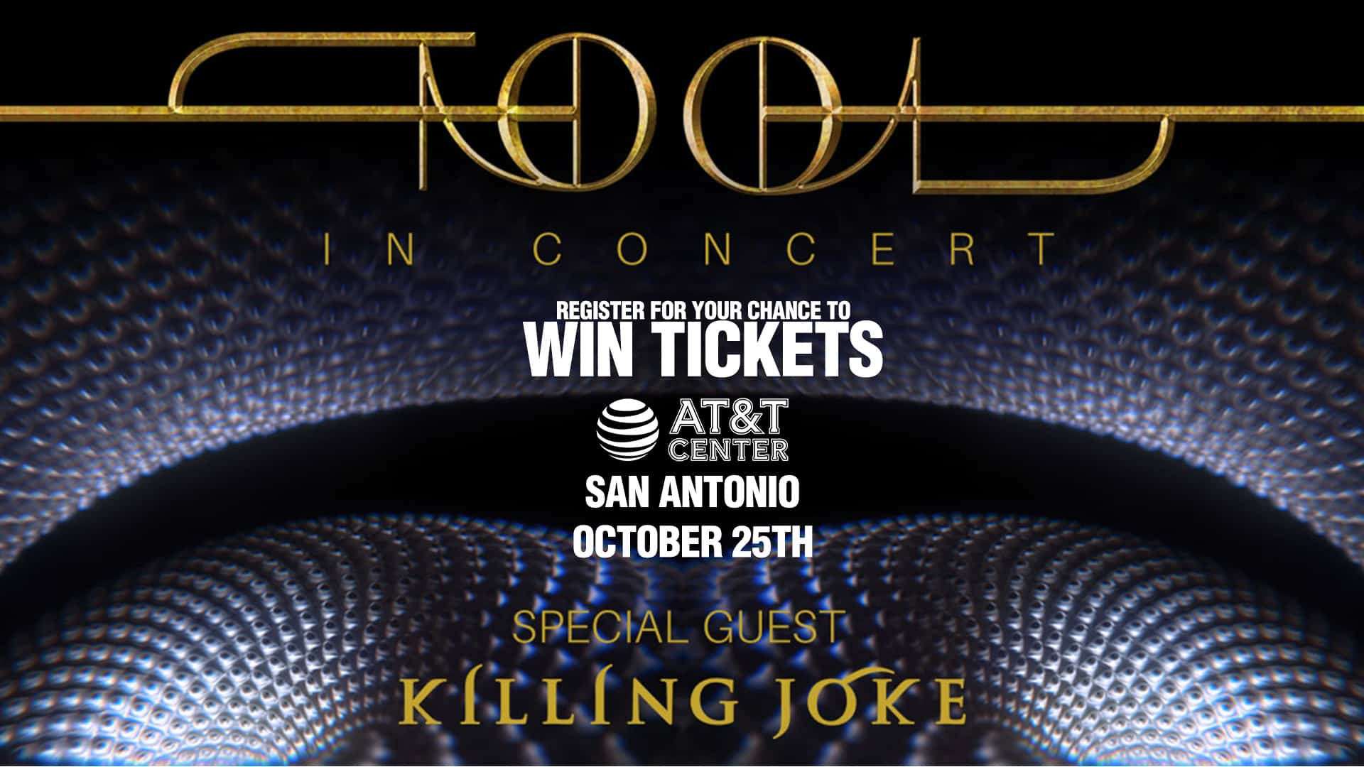 Register for your chance to win tickets to see Tool!