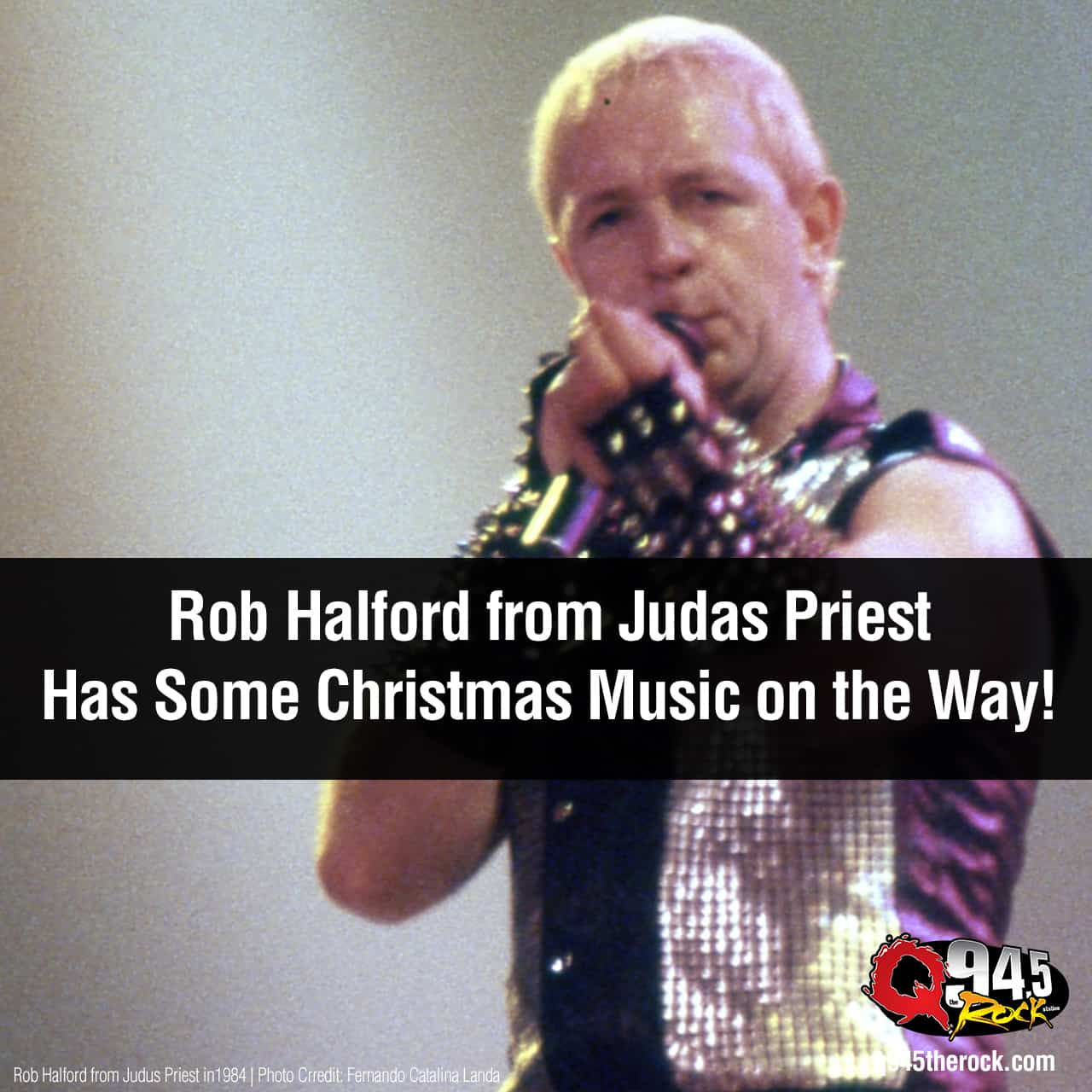 Rob Halford from Judas Priest Has Some Christmas Music on the Way!