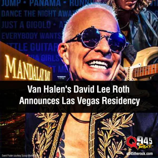 Van Halen's David Lee Roth Announces Las Vegas Residency