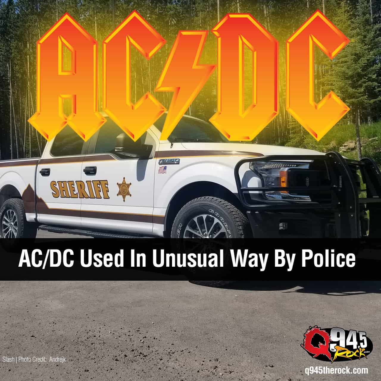 AC/DC Used In Unusual Way By Police