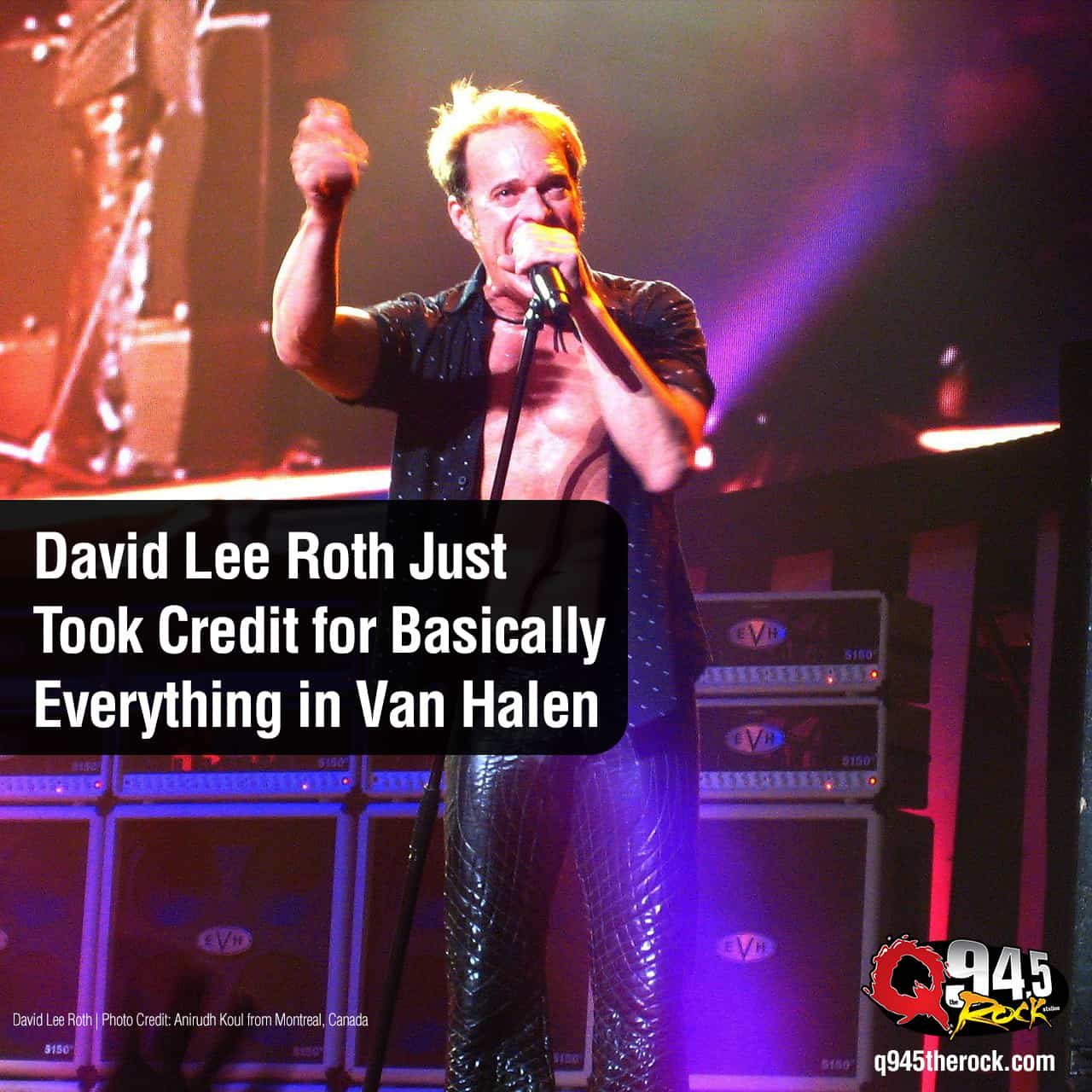 DAVID LEE ROTH has never been shy about his importance to VAN HALEN.  But in a new interview, he pretty much took credit for EVERYTHING.  And that's almost not an exaggeration.