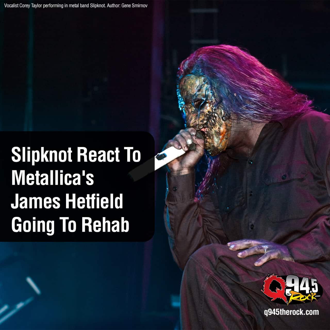 Slipknot shared a statement on social media after Metallica frontman James Hetfield entered rehab for addiction, forcing the postponement of their upcoming tour Down Under.