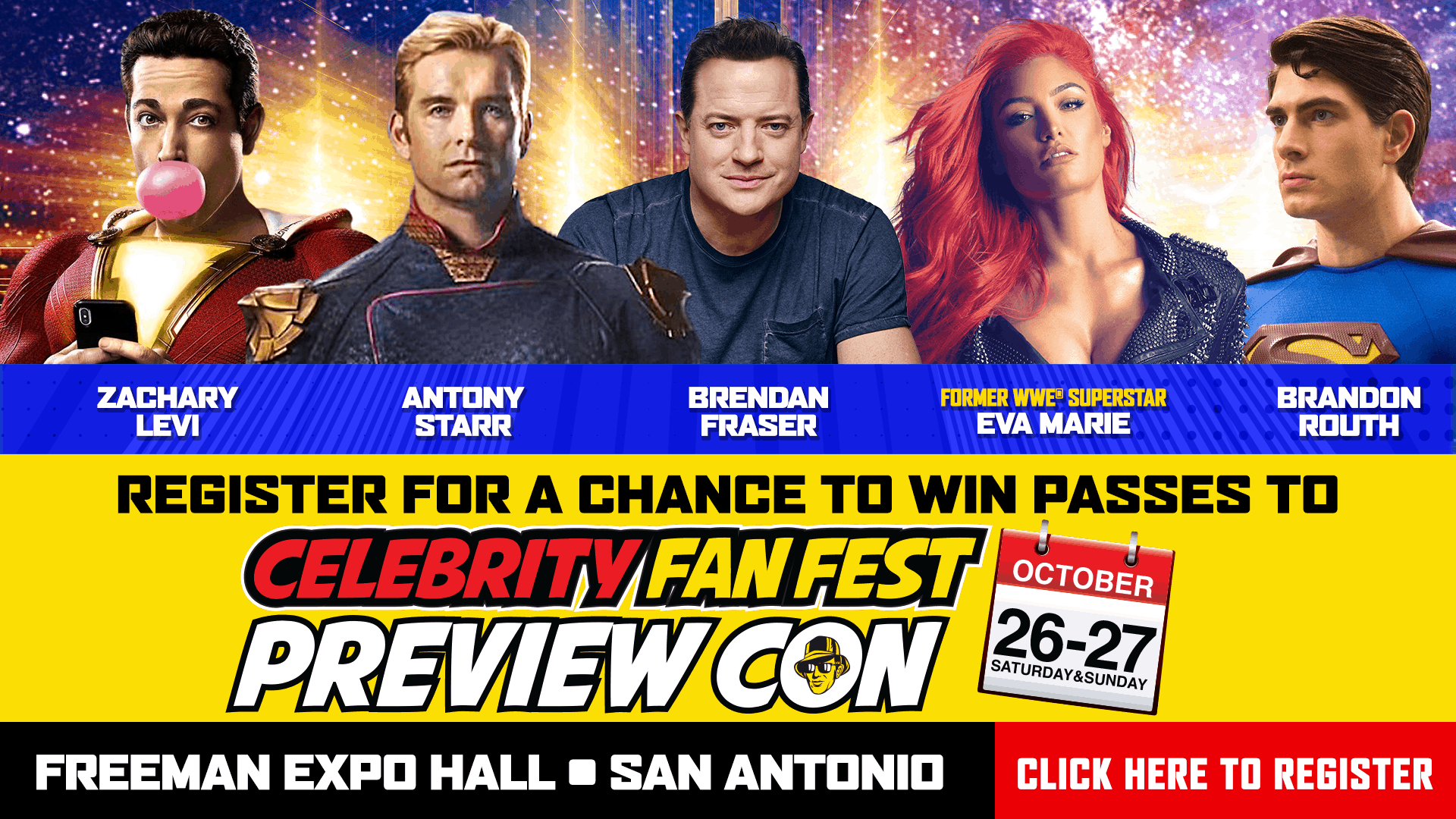 Register for your chance to win tickets to see Celebrity Fan Fest on October 26-27
