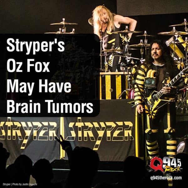 Stryper's Oz Fox May Have Brain Tumors