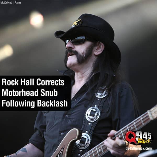 Rock Hall Corrects Motorhead Snub Following Backlash