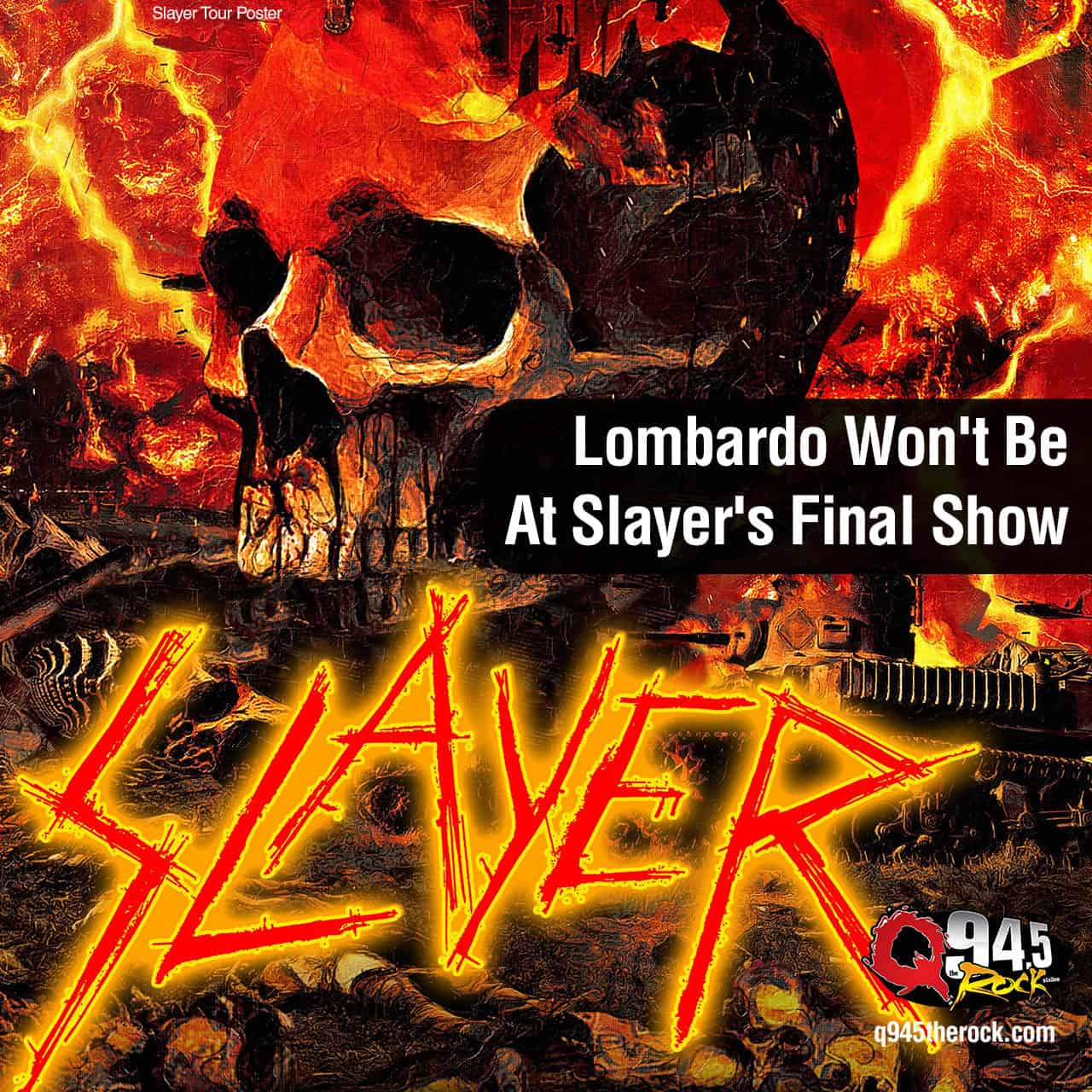Lombardo Won't Be At Slayer's Final Show -  KFRQ Q94.5