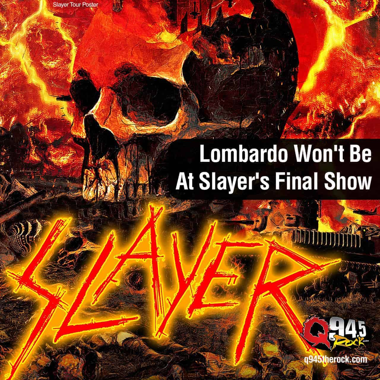 Lombardo Won't Be At Slayer's Final Show